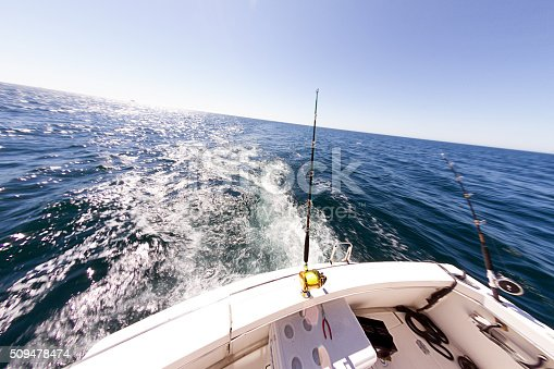 156872766istockphoto Ocean Fishing Reel on Boat at Sea 509478474