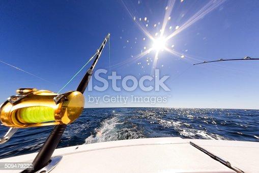 156872766istockphoto Ocean Fishing Reel on Boat at Sea 509479222