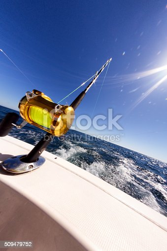 156872766istockphoto Ocean Fishing Reel on Boat at Sea 509479752