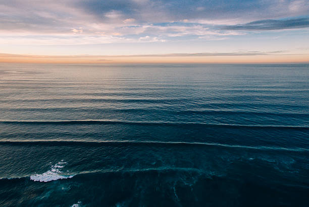 Ocean from above stock photo