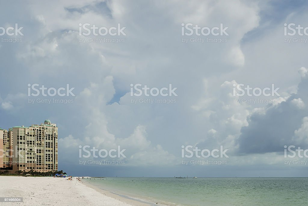 Ocean front apartments royalty-free stock photo