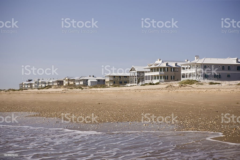 Casas de playa frente al mar - foto de stock