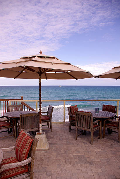 ocean front deck - mikefahl stock pictures, royalty-free photos & images