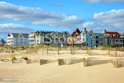 Beach along the Jersey Shore near Asbury Park. Asbury Park is a city in Monmouth County, New Jersey, United States, located on the Jersey Shore and part of the New York City Metropolitan Area.