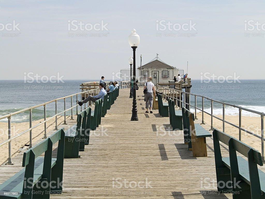 Ocean Grove Pier stock photo