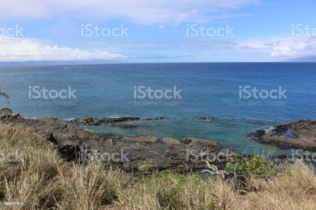 Ocean in Kapalua, Maui, Hawaii foto de stock royalty-free