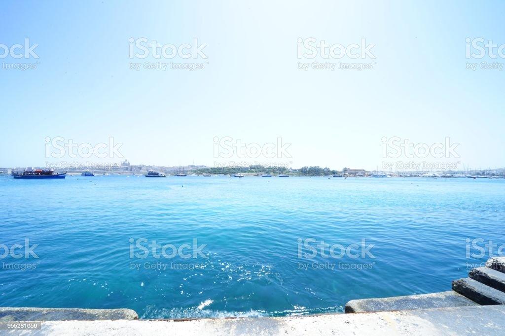 Ocean in Malta stock photo