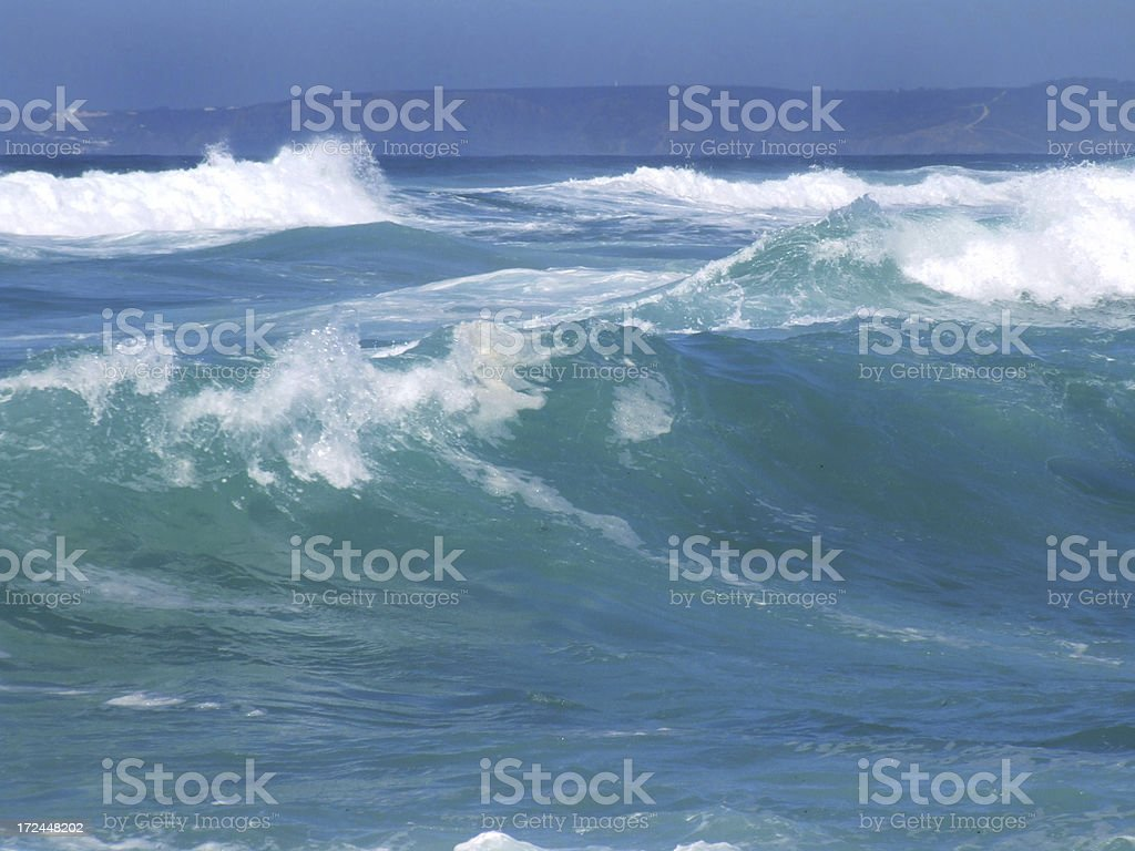 Ocean in motion royalty-free stock photo