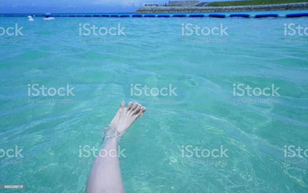 Ocean in Okinawa in summer stock photo