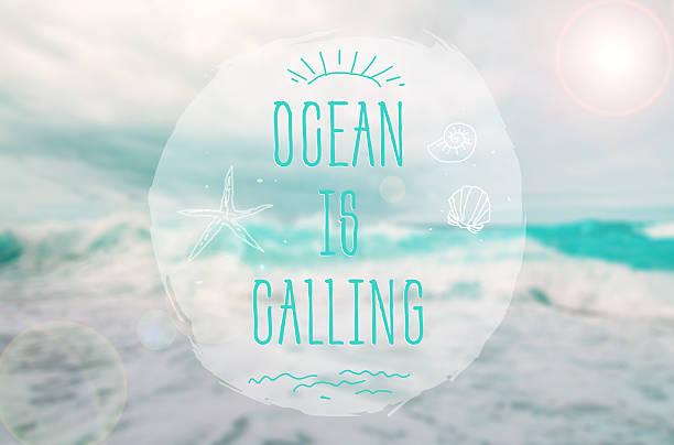 Ocean is Calling stock photo