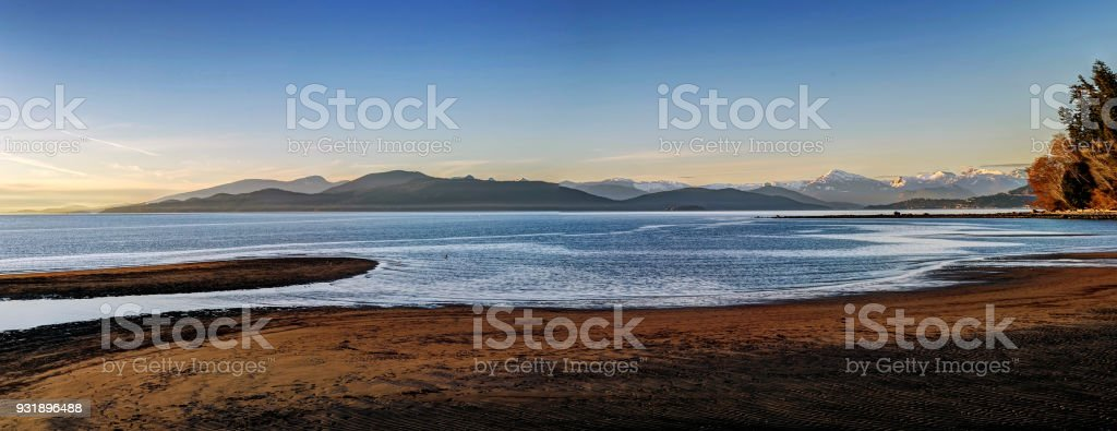ocean, island and beach stock photo