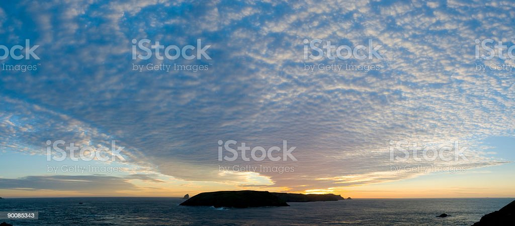 Ocean island cloudscape royalty-free stock photo