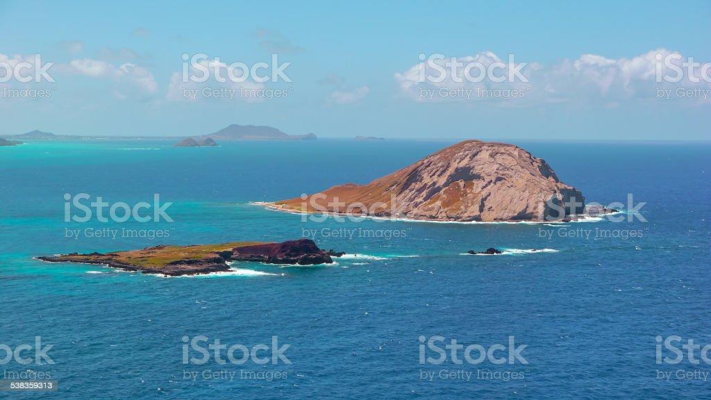 ocean islands stock photo