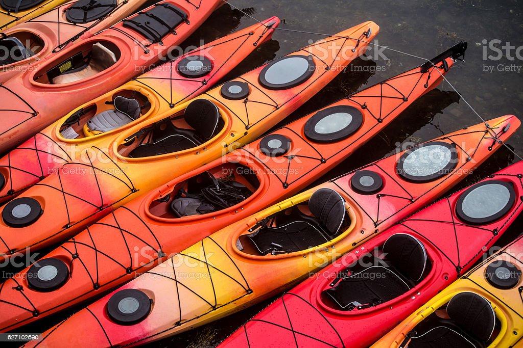ocean kayaks stock photo