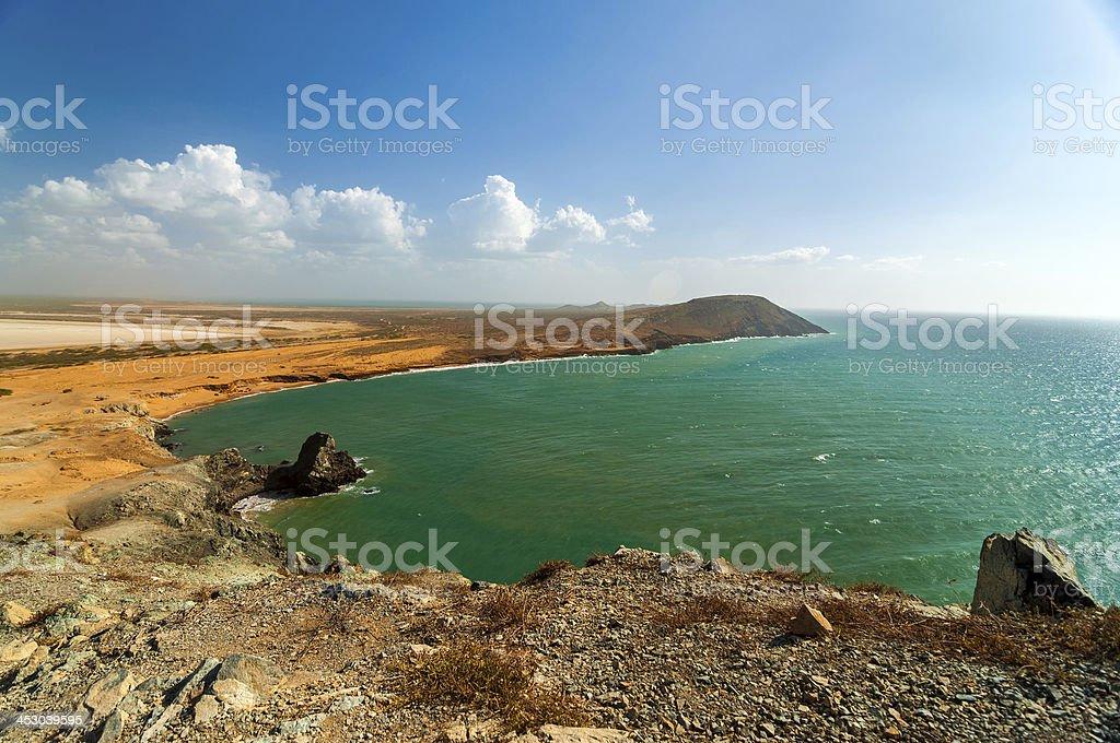 Ocean Landscape in La Guajira stock photo