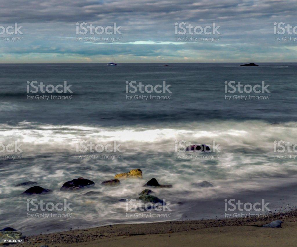 Ocean Landscape Long Exposure royalty-free stock photo