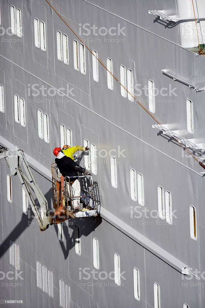 ocean liner gets re-fit stock photo