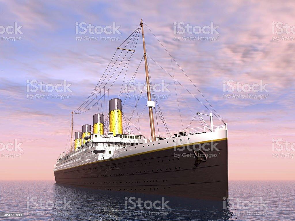 Ocean Liner stock photo