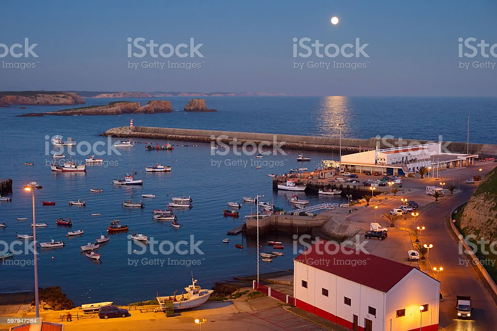 Ocean marina at night foto royalty-free
