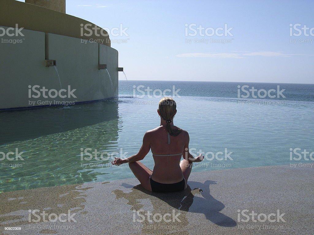 ocean meditation royalty-free stock photo