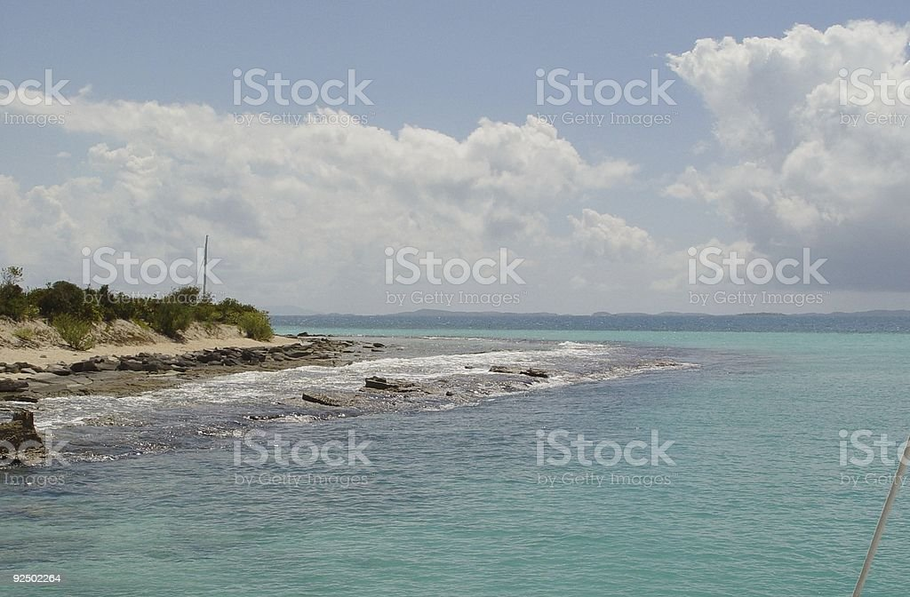 Ocean Meets Land royalty-free stock photo