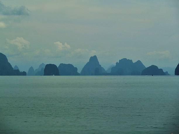 Ocean Mountain View stock photo