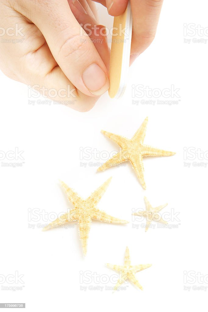 Ocean Nails royalty-free stock photo