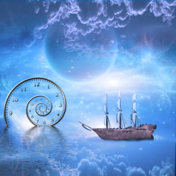 oceaan van ruimte en tijd - sleeping illustration stockfoto's en -beelden