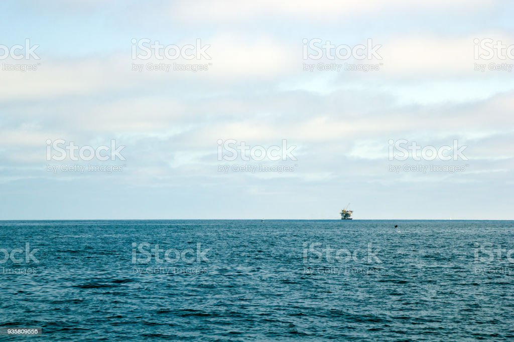 Ocean Oil Rig stock photo