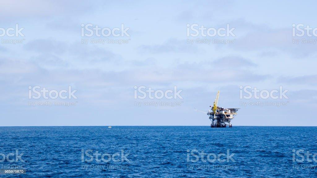 Oceaan booreiland - Royalty-free Bewolkt Stockfoto