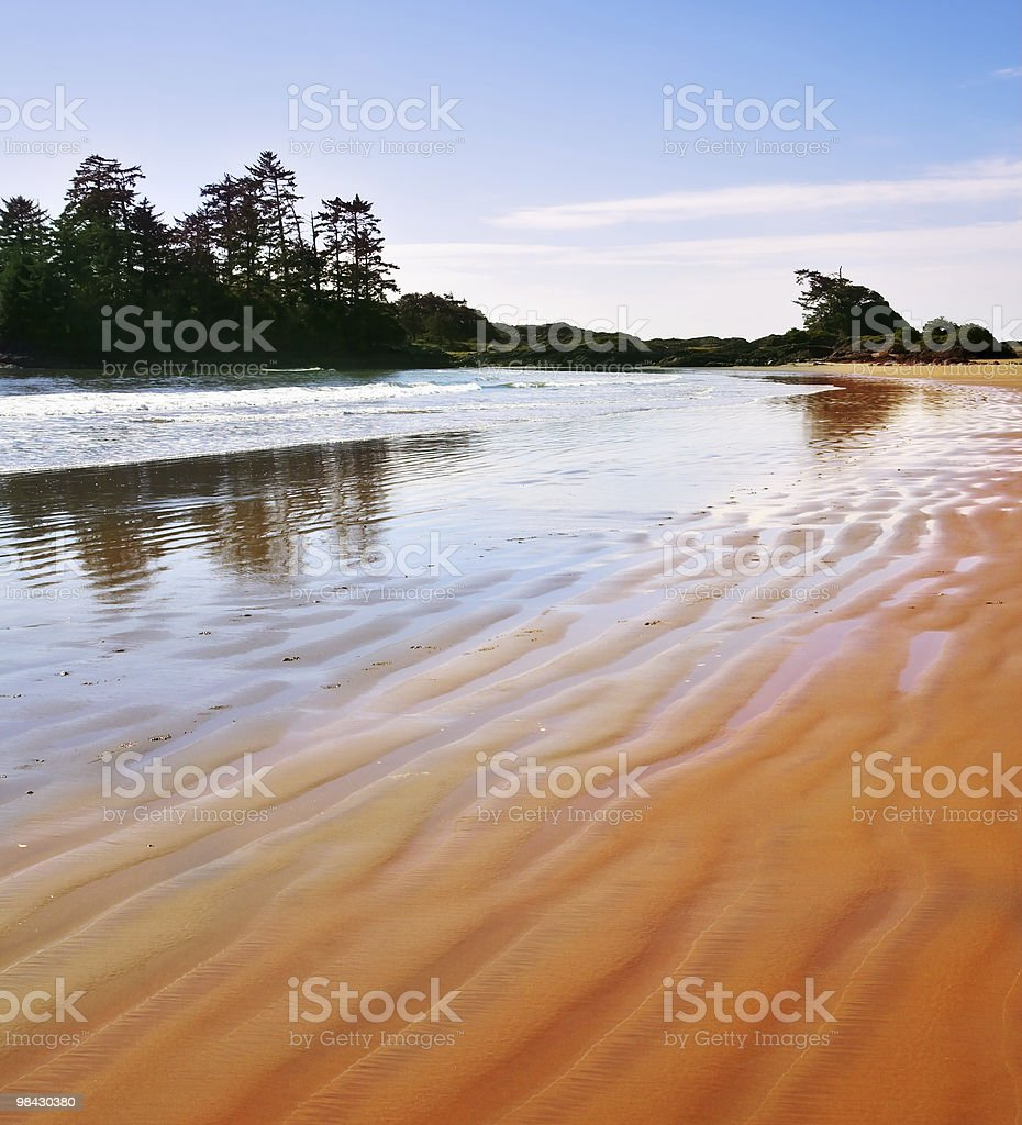 Ocean outflow on island Vancouver royalty-free stock photo