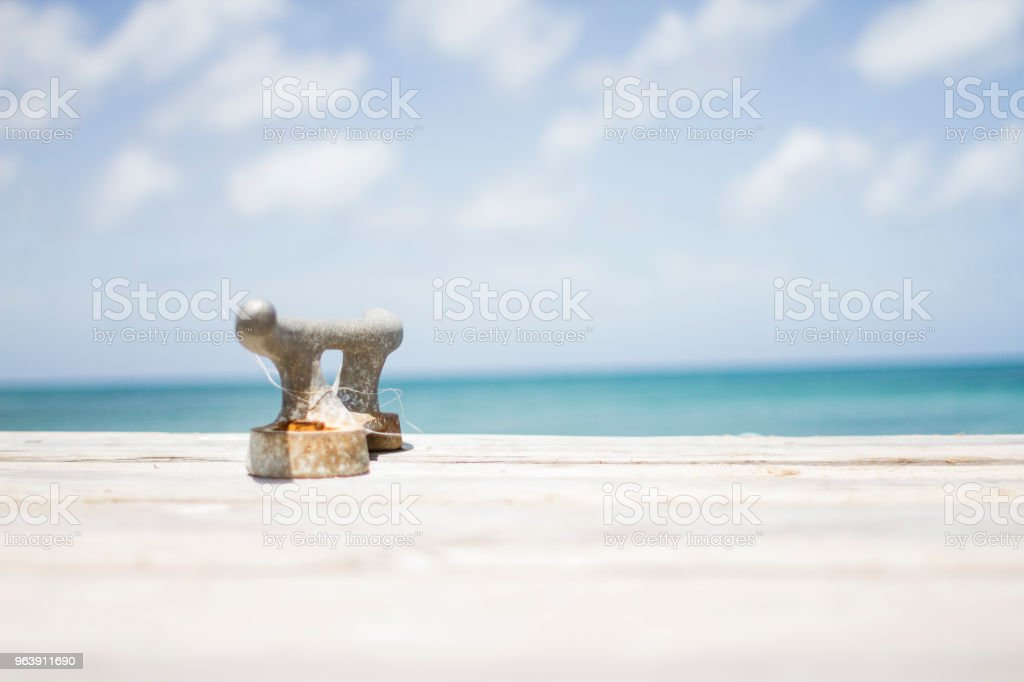 Ocean overlook in Grenada stock photo
