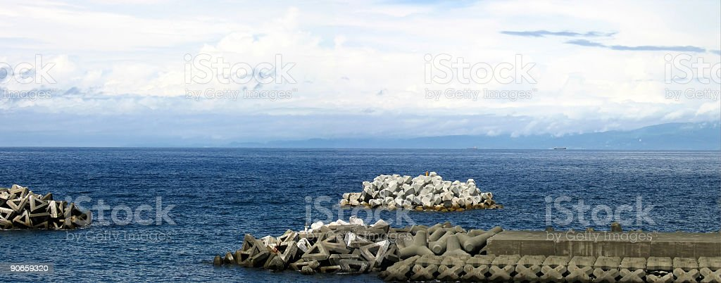 Ocean Panorama royalty-free stock photo