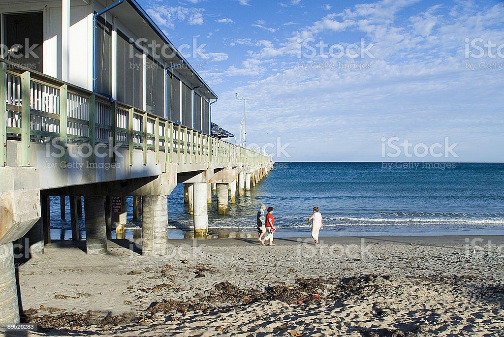Ocean pier royalty-free stock photo