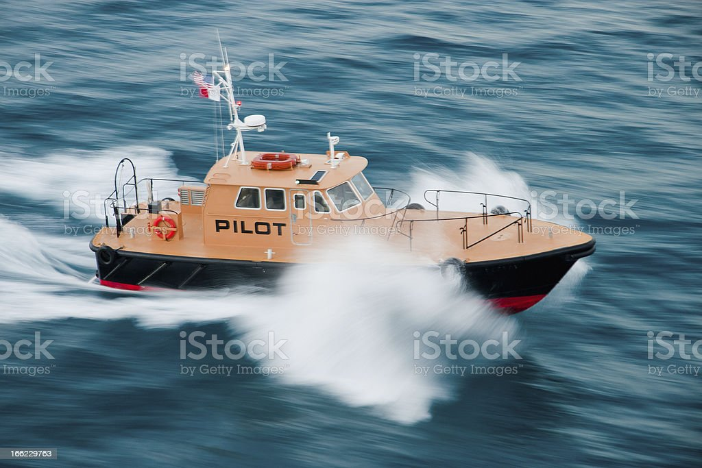Ocean pilot boat. royalty-free stock photo