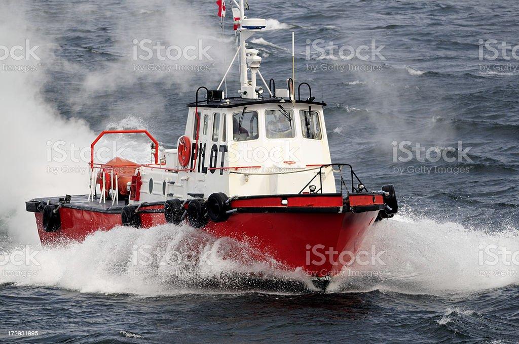Ocean pilot boat. royalty-free stock photo