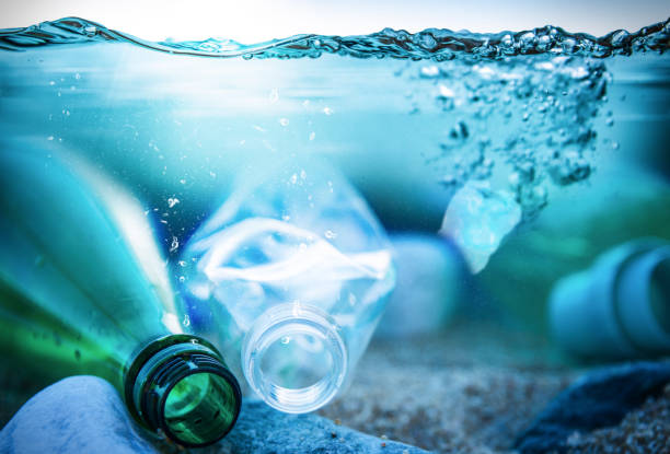 Ocean Plastic Pollution stock photo
