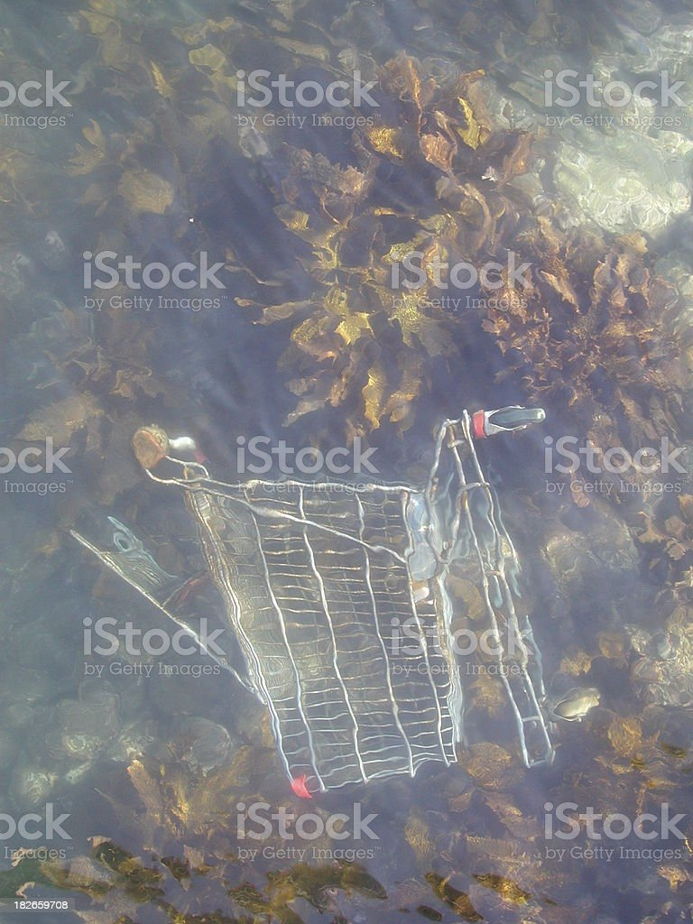 Ocean pollution royalty-free stock photo