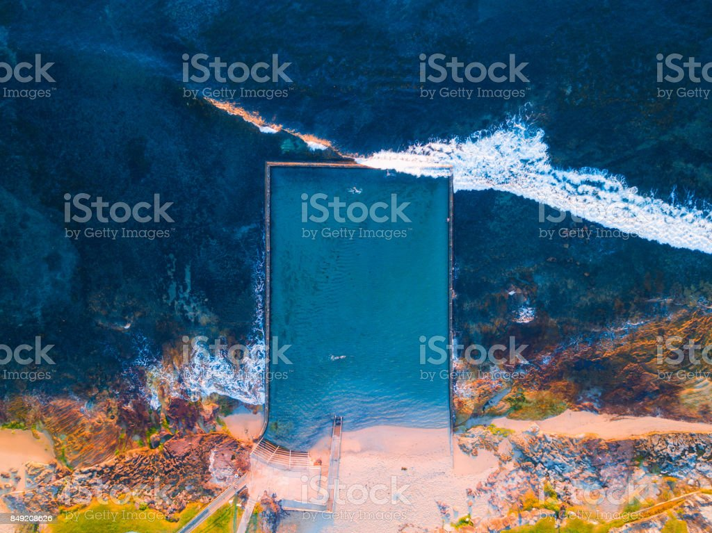 Ocean Pool stock photo