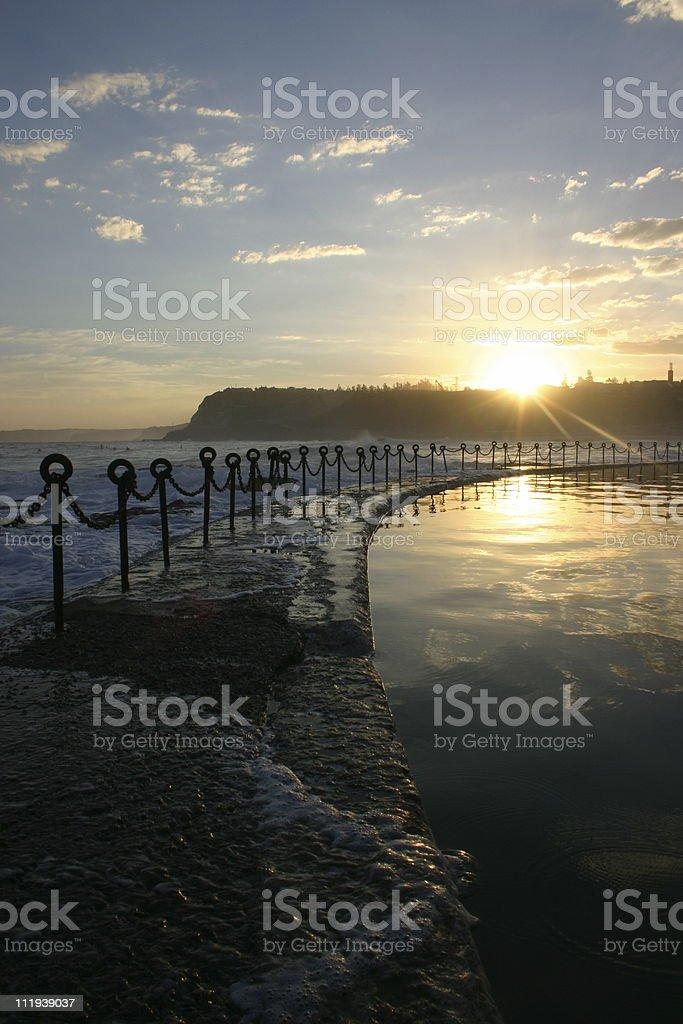 Ocean pool - vertical royalty-free stock photo