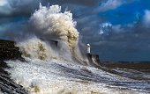 A there stormy day in my home town in porthcawl