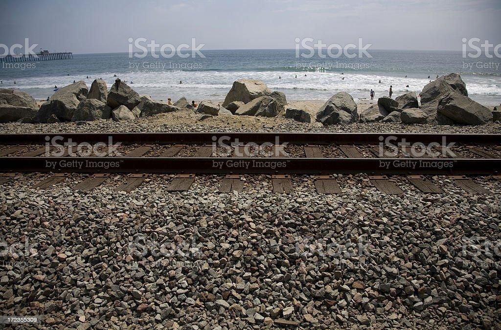 Ocean rail royalty-free stock photo