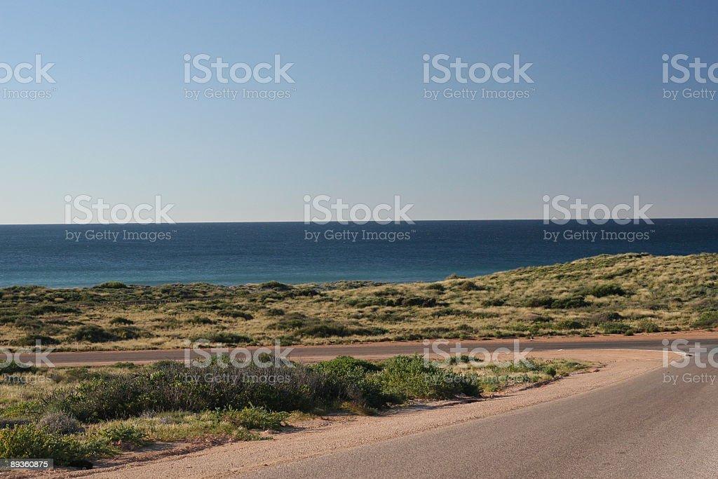 Ocean road royaltyfri bildbanksbilder