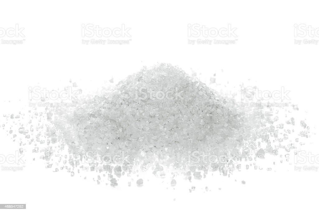 Ocean salt crystals stock photo