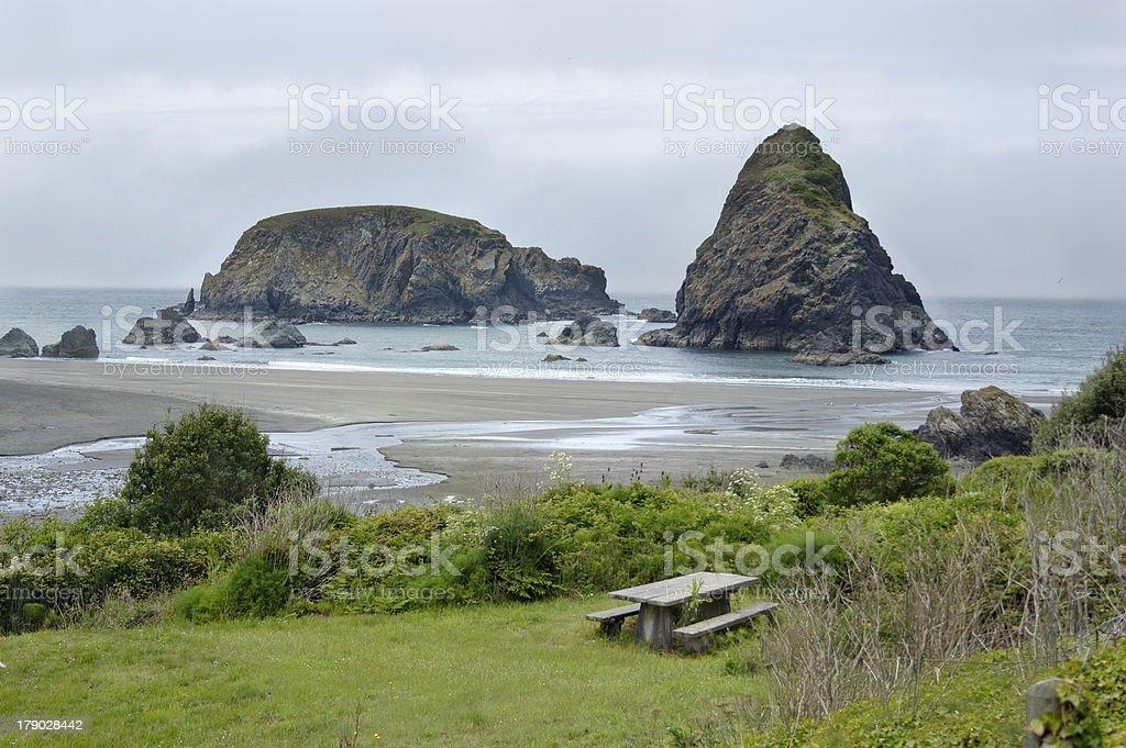 Ocean shore in Samuel Boardman state par, Whaleshead, Oregon, US stock photo