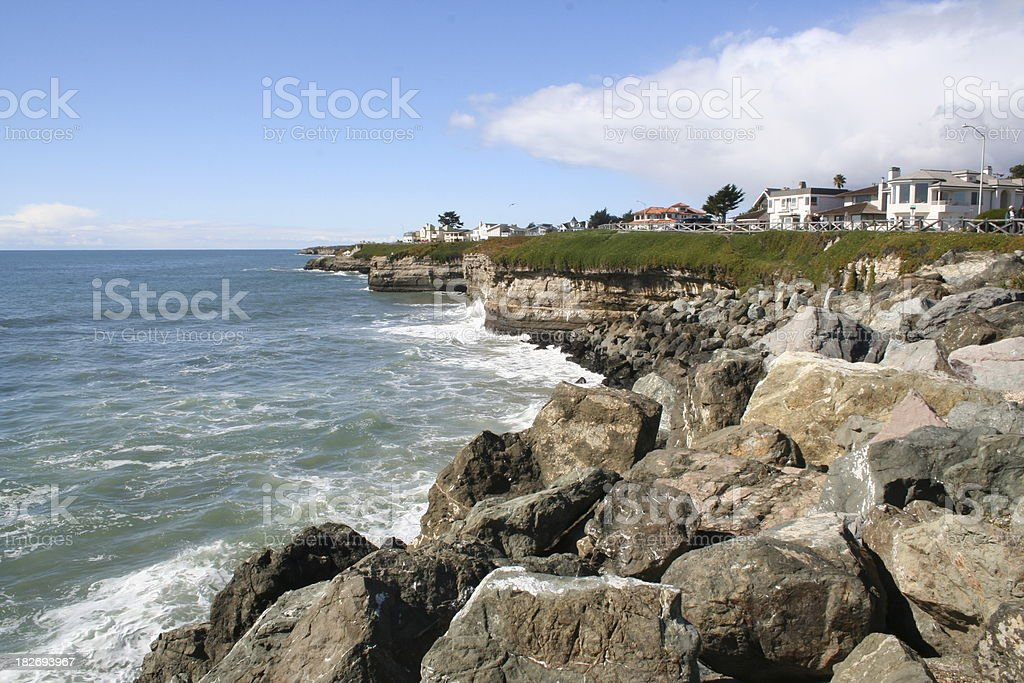 ocean side view stock photo