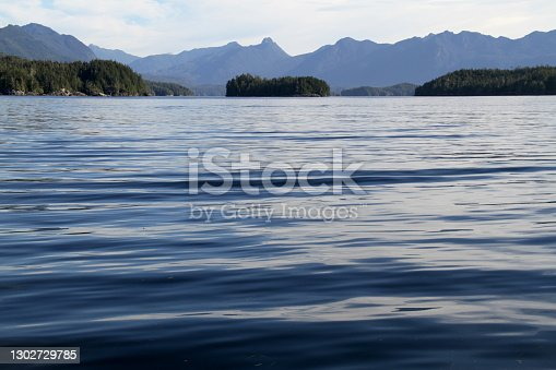 The ocean waters off the coast of Tofino, Canada