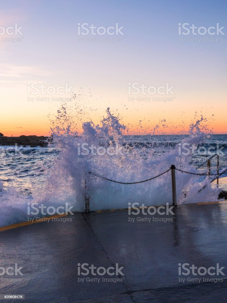 Ocean Splash stock photo