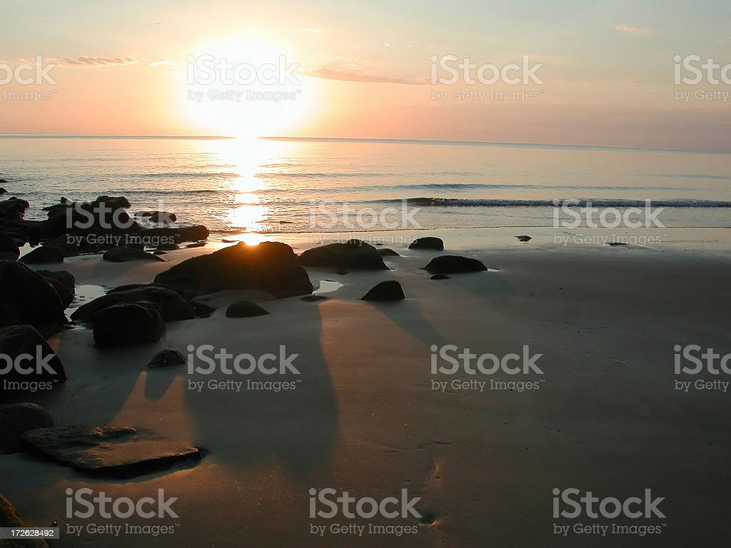 Ocean sunrise royalty-free stock photo