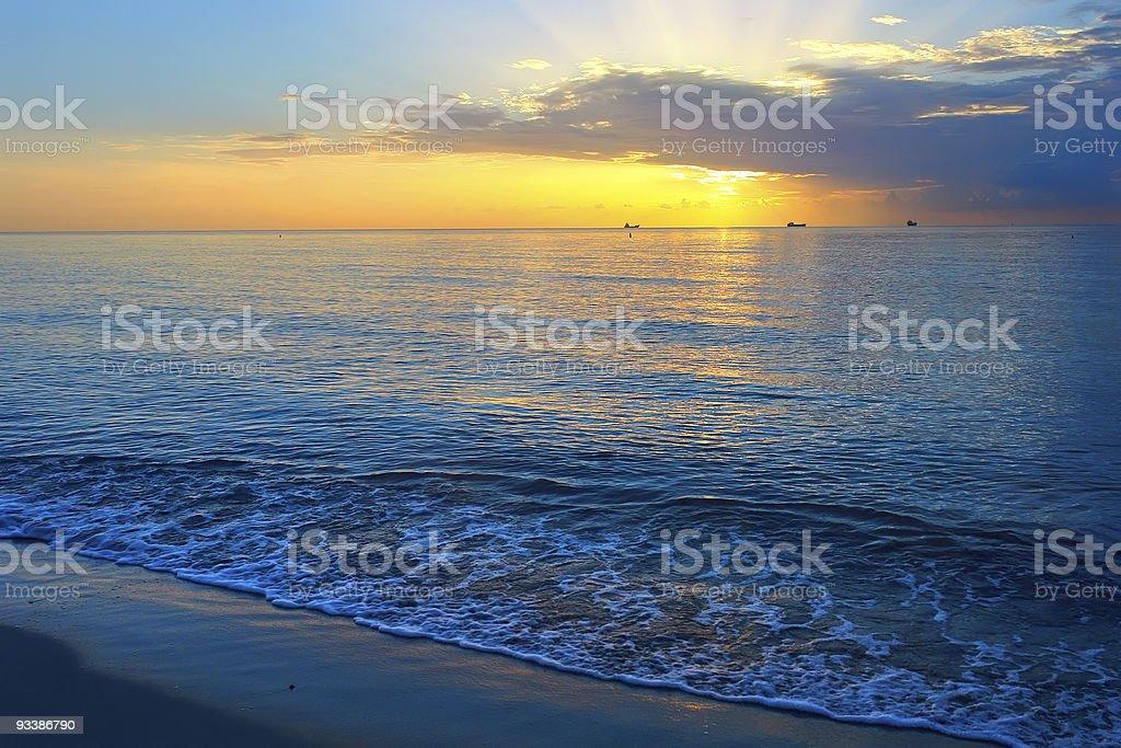Ocean sunrise royalty-free stock photo
